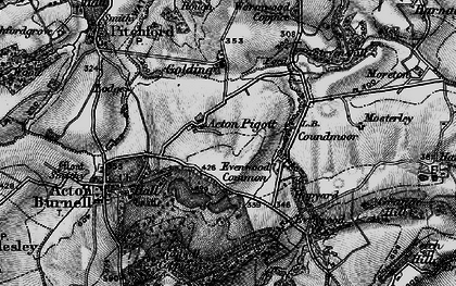 Old map of Acton Pigott in 1899