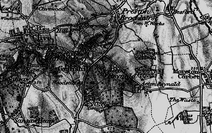 Old map of Acton Reynald in 1899