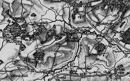 Old map of Acton Round in 1899