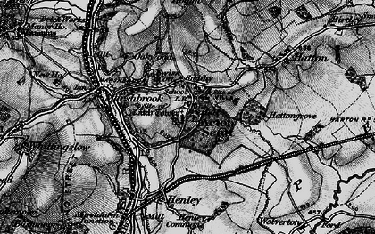 Old map of Acton Scott in 1899