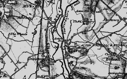 Old map of Acton Trussell in 1898