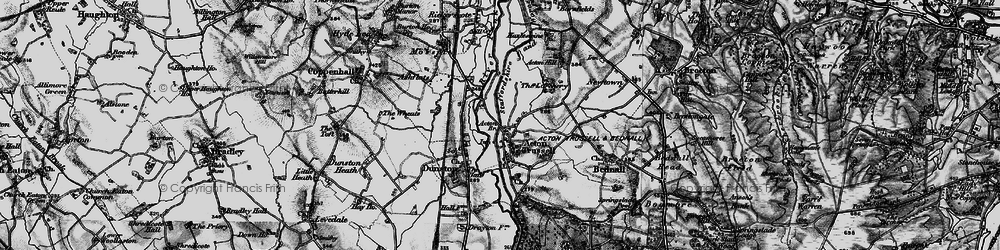 Old map of Acton Br in 1898