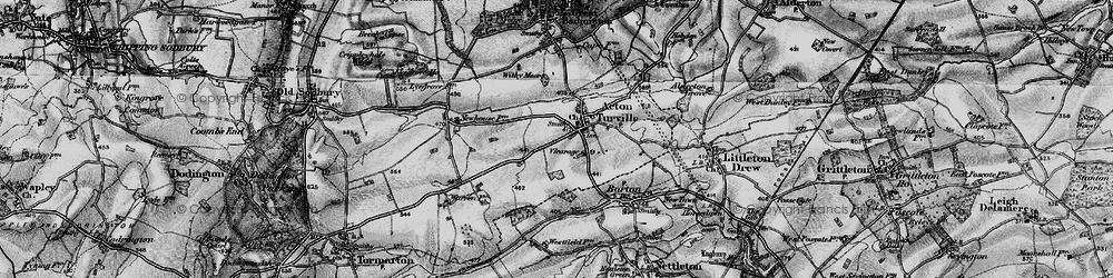 Old map of Acton Turville in 1898