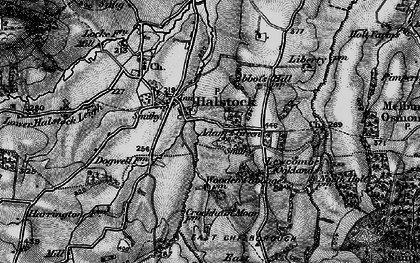 Old map of Adam's Green in 1898