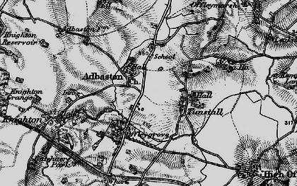 Old map of Adbaston in 1897