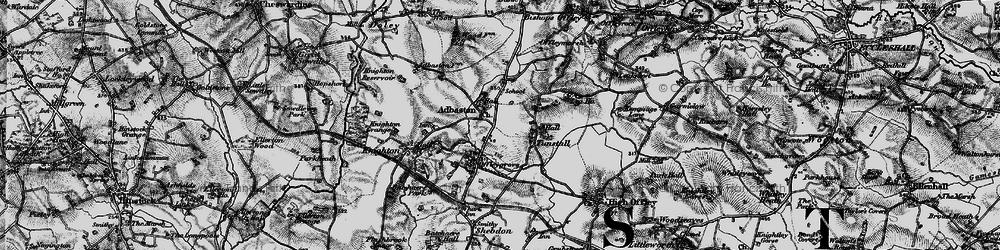 Old map of Adbaston in 1897