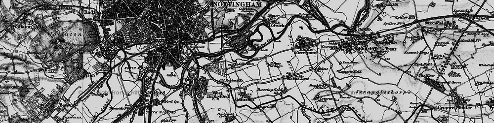 Old map of Adbolton in 1899