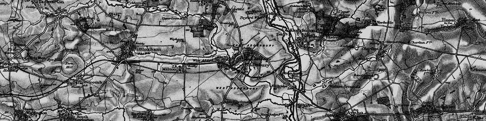 Old map of Adderbury in 1896