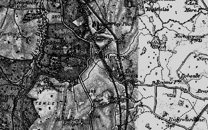 Old map of Adderley Lodge in 1897