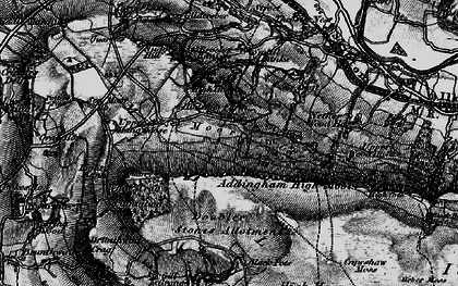 Old map of Addingham Moorside in 1898