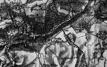 Old map of Addington in 1895