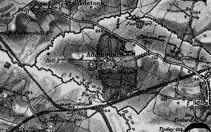 Old map of Addington Manor in 1896