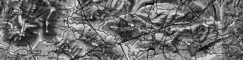 Old map of Addington in 1896