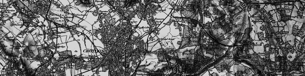 Old map of Addiscombe in 1895