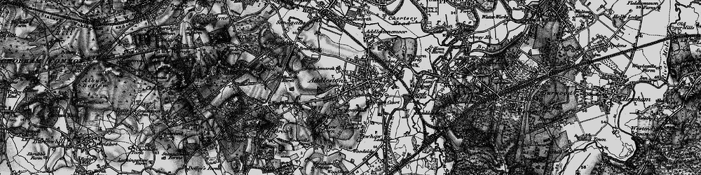 Old map of Addlestone in 1896