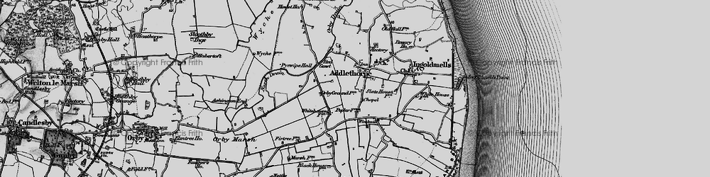 Old map of Addlethorpe in 1898