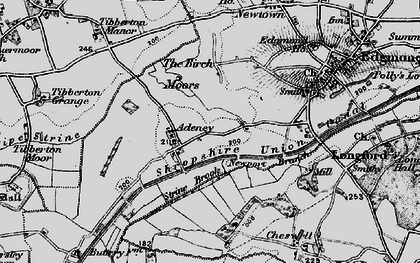Old map of Adeney in 1897