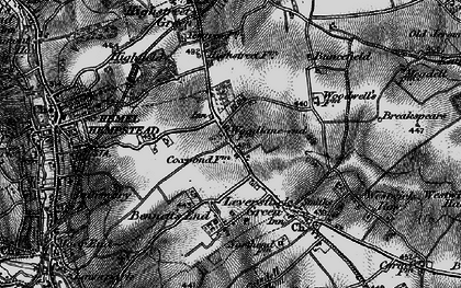 Old map of Adeyfield in 1896