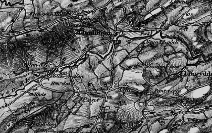 Old map of Adfa in 1899