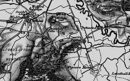 Old map of Wigmore Moor in 1899