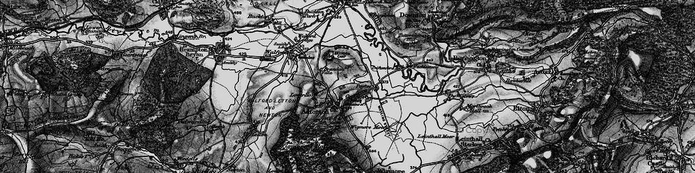 Old map of Leintwardine Fishery in 1899