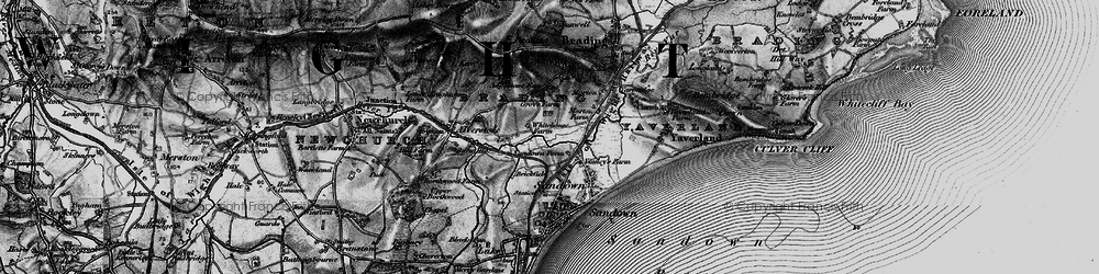 Old map of Adgestone in 1895