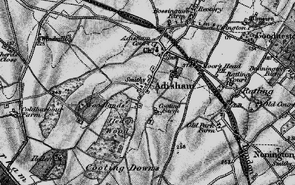 Old map of Adisham in 1895