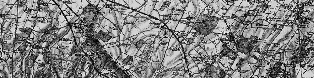 Old map of Adisham Court in 1895
