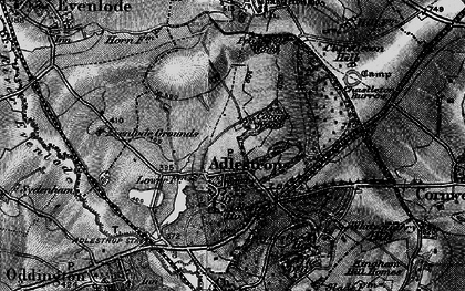 Old map of Adlestrop Park in 1896