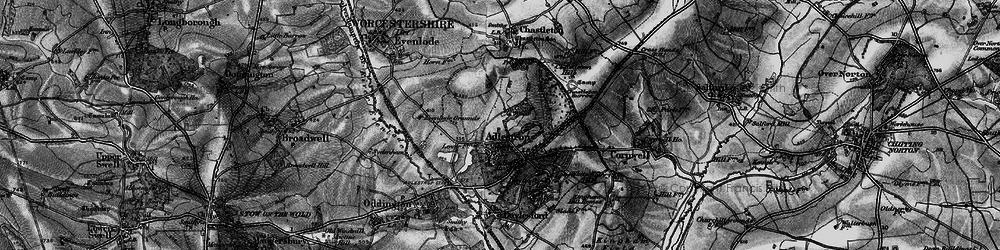 Old map of Adlestrop Park in 1896