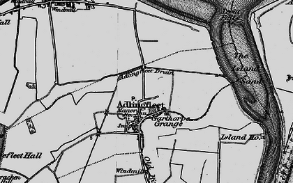 Old map of Adlingfleet in 1895