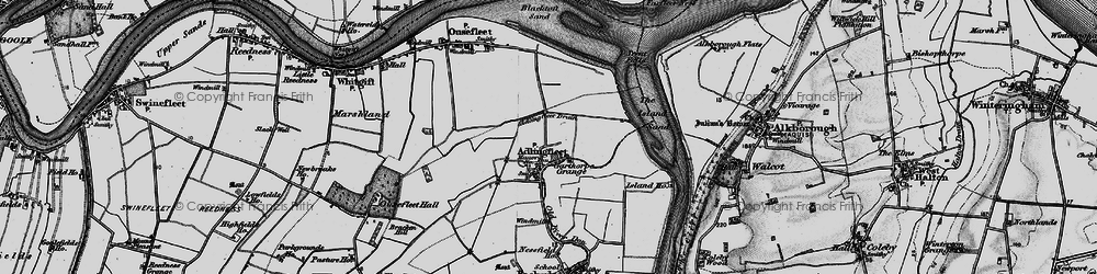 Old map of Adlingfleet Drain in 1895