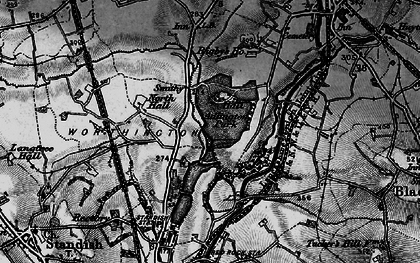 Old map of Adlington Park in 1896