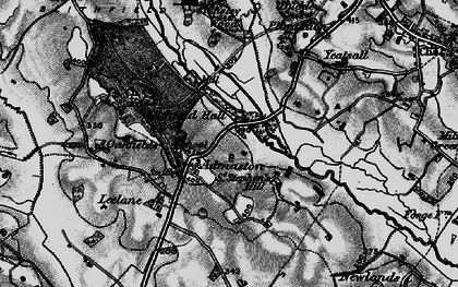 Old map of Yeatsall in 1898