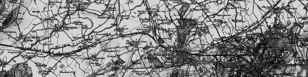 Old map of Admaston in 1899