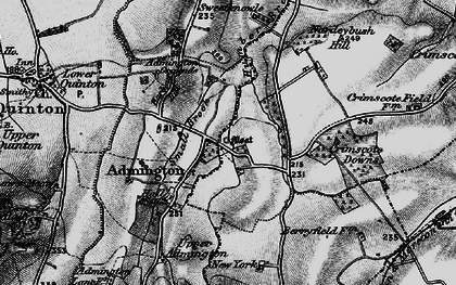 Old map of Admington in 1898