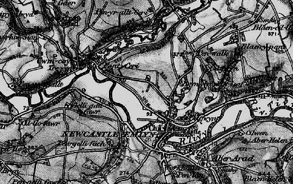 Old map of Adpar in 1898