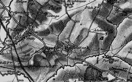 Old map of Adstock in 1896