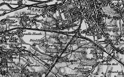 Old map of Adswood in 1896