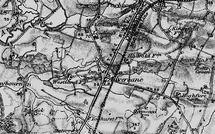 Old map of Adversane in 1895