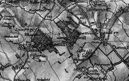 Old map of Adwell in 1895