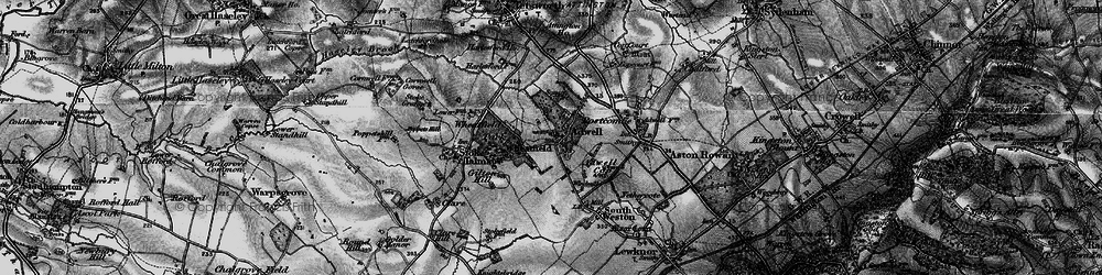Old map of Wheatfield in 1895