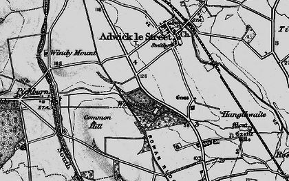 Old map of Adwick Le Street in 1895