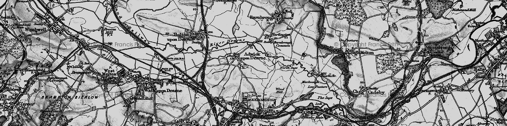 Old map of Adwick upon Dearne in 1896