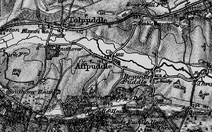 Old map of Affpuddle Heath in 1897
