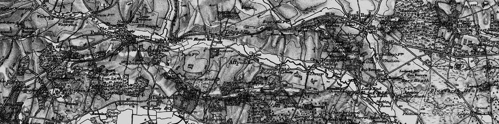 Old map of Affpuddle in 1897