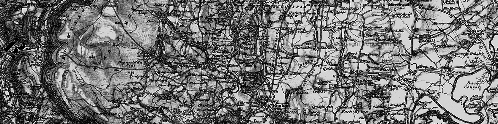 Old map of Afon Eitha in 1897