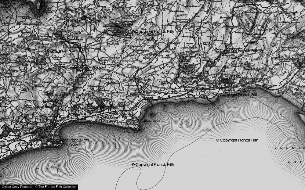 Old Map of Afon Wen, 1899 in 1899