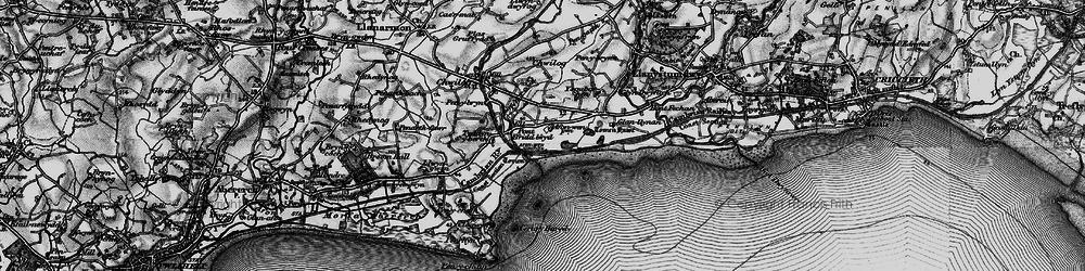 Old map of Afon Wen in 1899