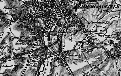 Old map of Aggborough in 1899